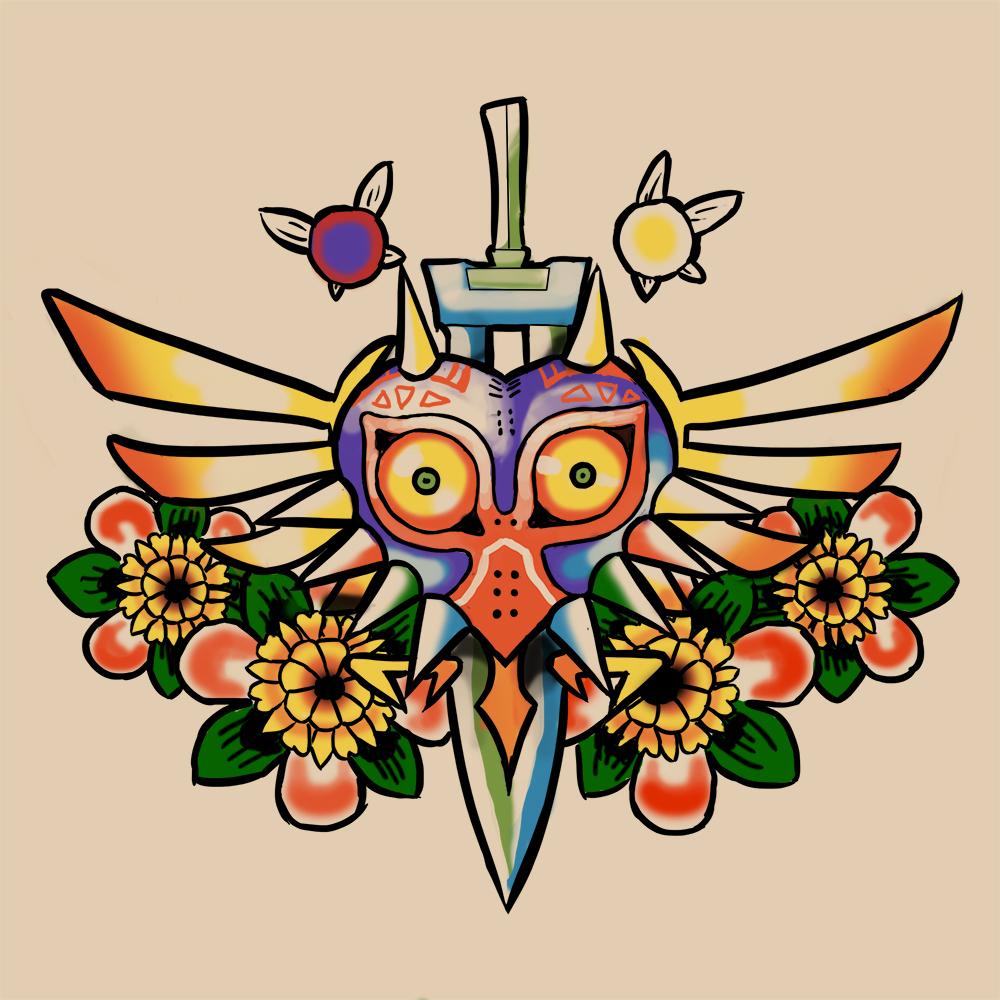 Majora's Mask tattoo commission
