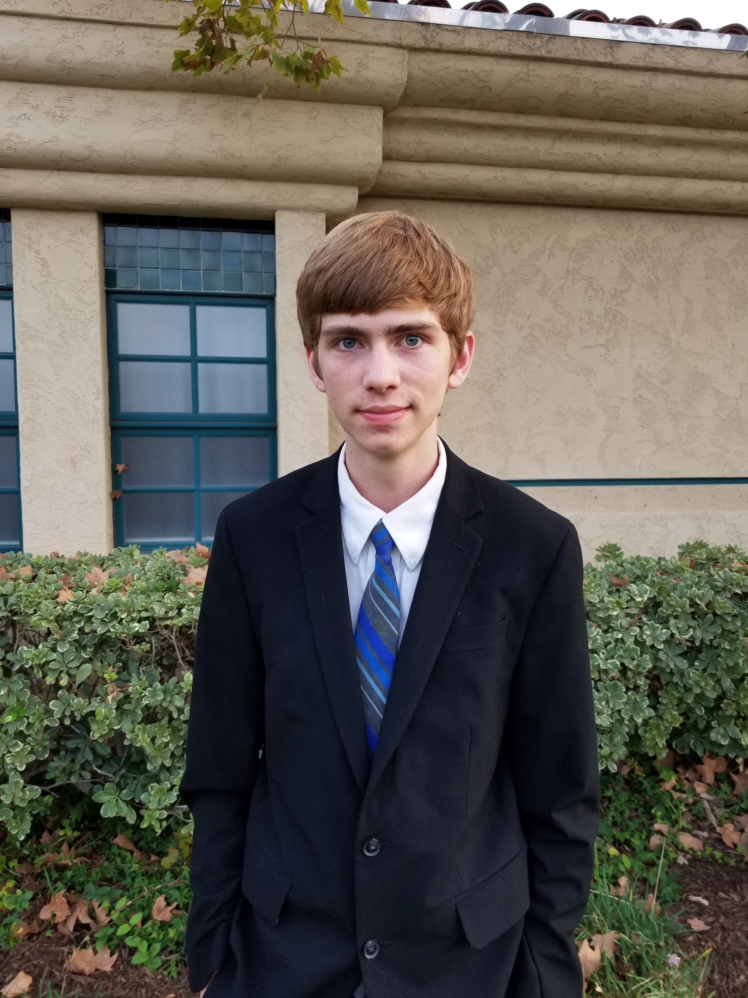 Max Brewer  Age 17  Attends El Toro High School  Enjoys Wumbo  Living the gospel makes it easier to avoid sin.