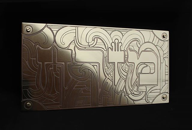 "Mizrach. Custom etched 10""x20"" 18 gauge brass plate. A special commission for a client. Very honored.  #mizrach #mizrah #east #brass #brassart #brassetching #hebrew #thankful #synagogue  #jerusalem #sacred #sacredart #deco #artdecobrass #artnouveau  #artnoveaubrass #deconoveau #nicholasknudson #nicholasknudsonart"