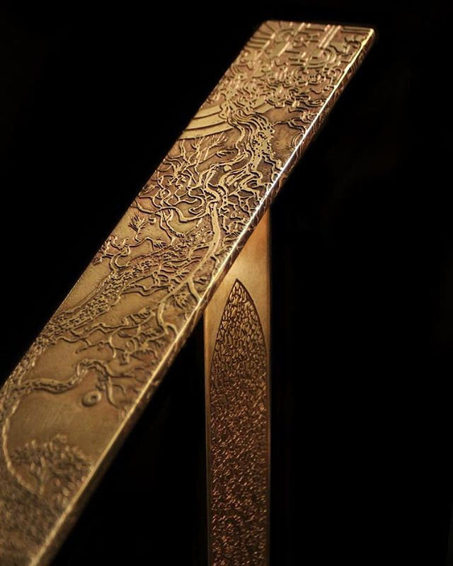 "My favorite commission to date  Etched Brass Master Story Railing #1 ""What good is the warmth of summer, without the cold of winter to give it sweetness."" -John Steinbeck  A collaboration with @cooperreynoldsgross  #brass #brassart #brassrailing #customrailing #brassetching #storyrailing #johnstienbeck #historyart  #interiordesignlosangeles #brasslovers #nicholasknudsonart #nicholasknudson #natureart #customcommission #losangelesartist #losangeles"