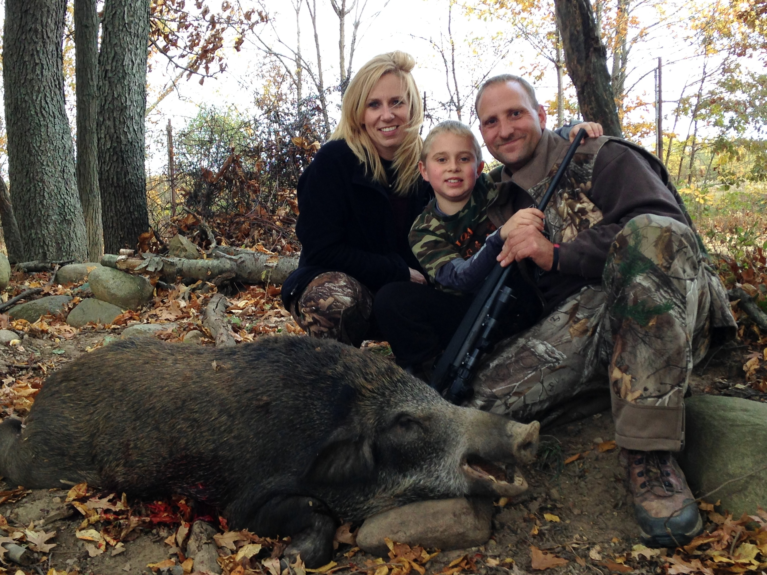 Braedan's first Wild Hog. Truly a Amazing experience to share this with him. He absolutely has a passion for hunting like no other.