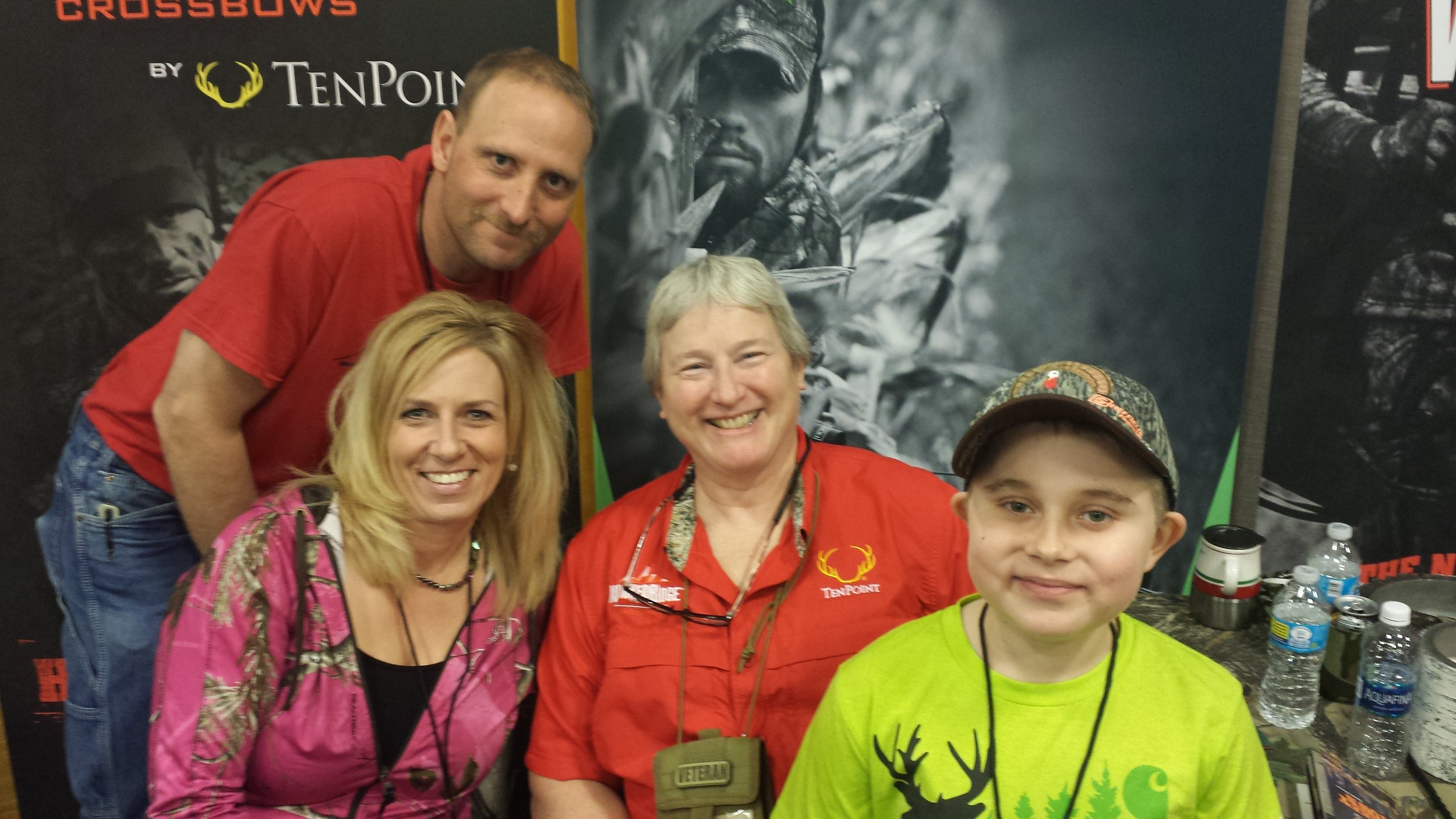 Always a pleasure to hang with our good friend Barb Terry from Ten Point Cross Bows.