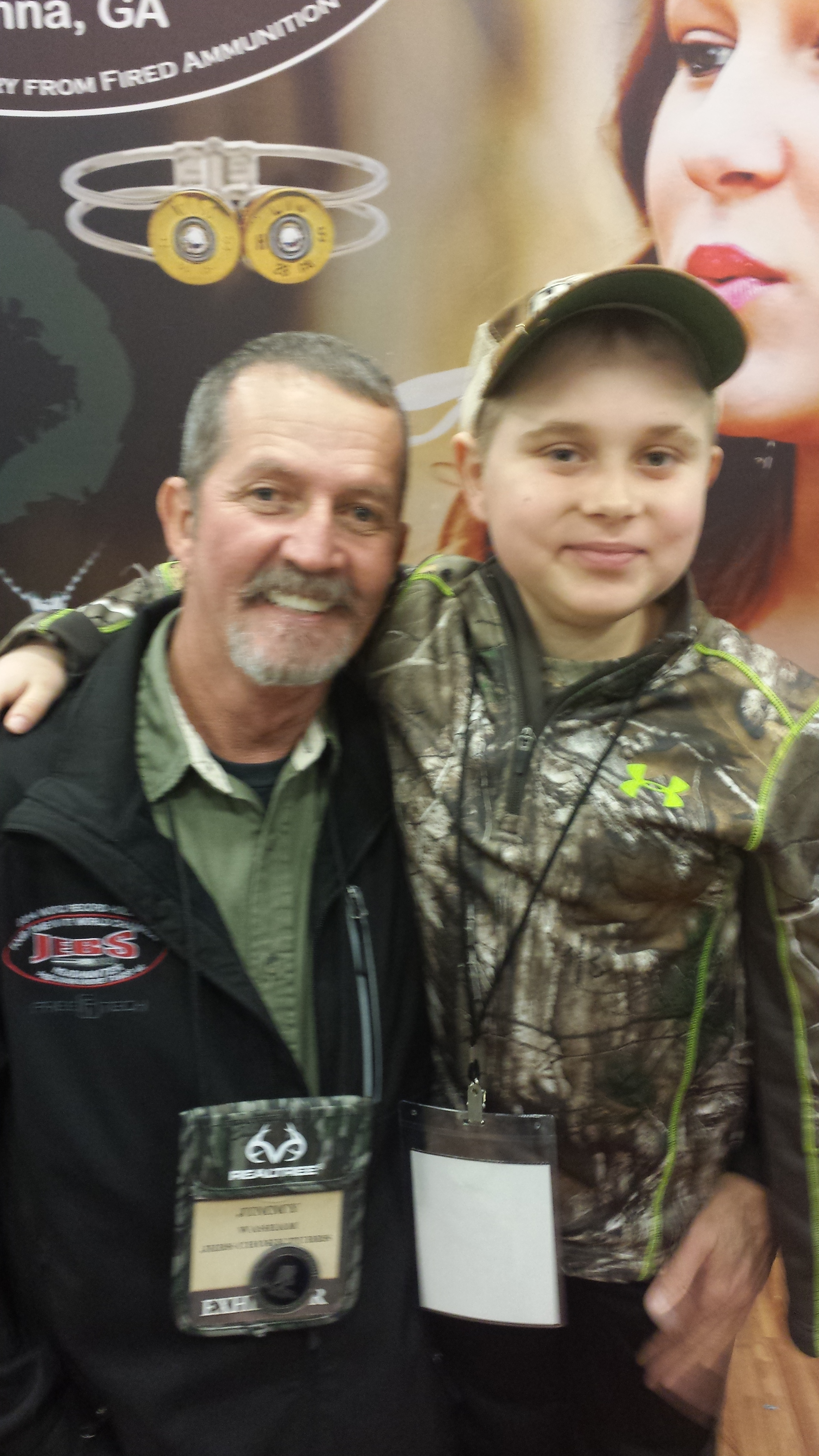Braedan and Jimmy Washam, CEO of Jebbs Choke Tube. Jimmy has acknowledged and assigned Braedan as an Official Pro Staff Member.