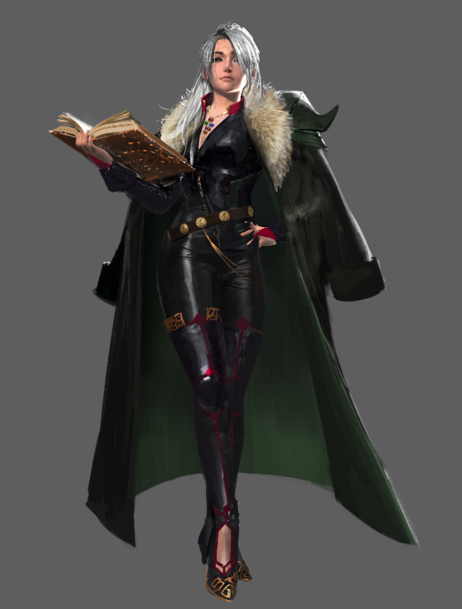 "Art by Phong Nguyen.  This was our re-design of the ""Summoner"" class."