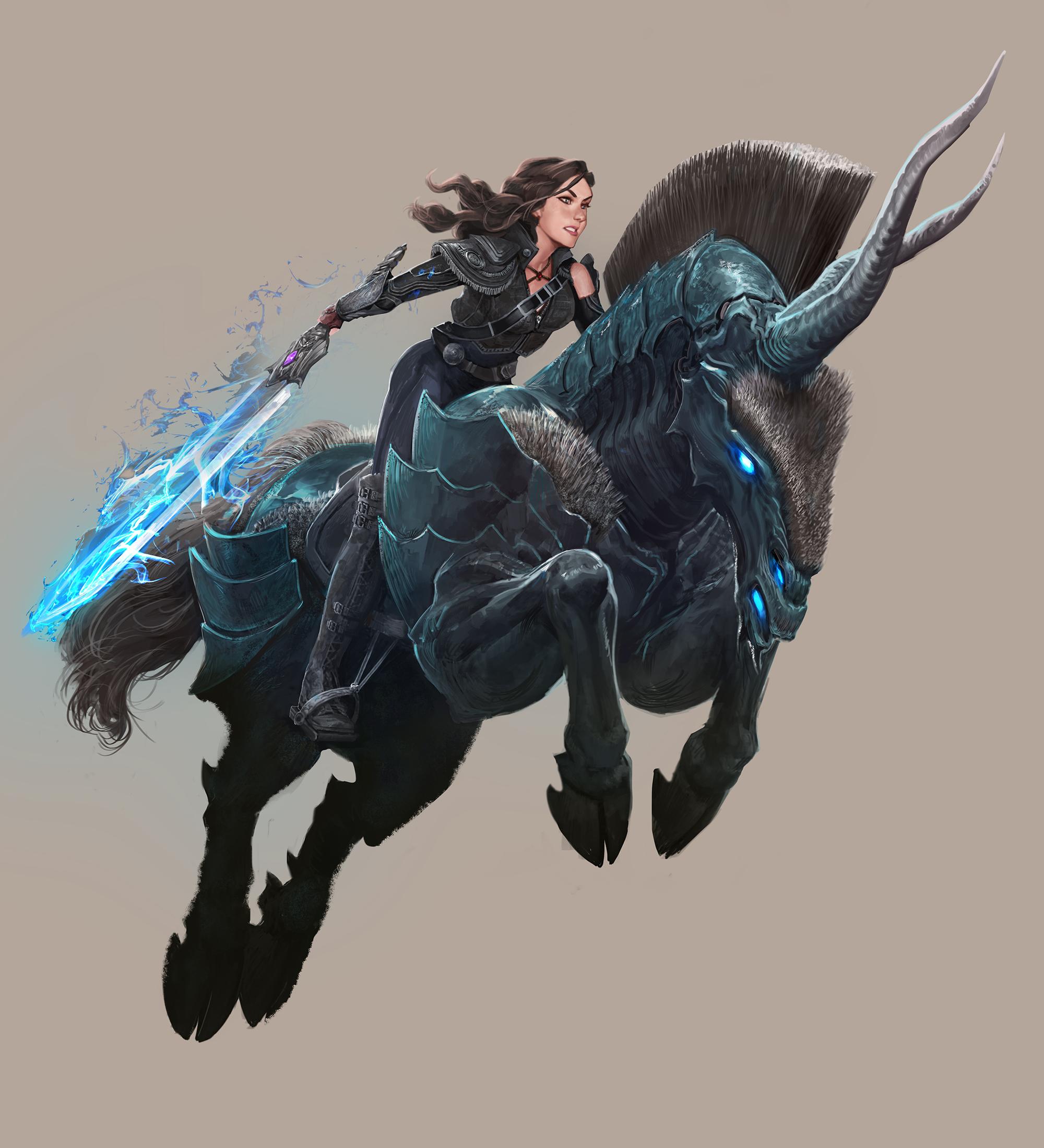Art by Ryan Lee. Helixhorn cavalry