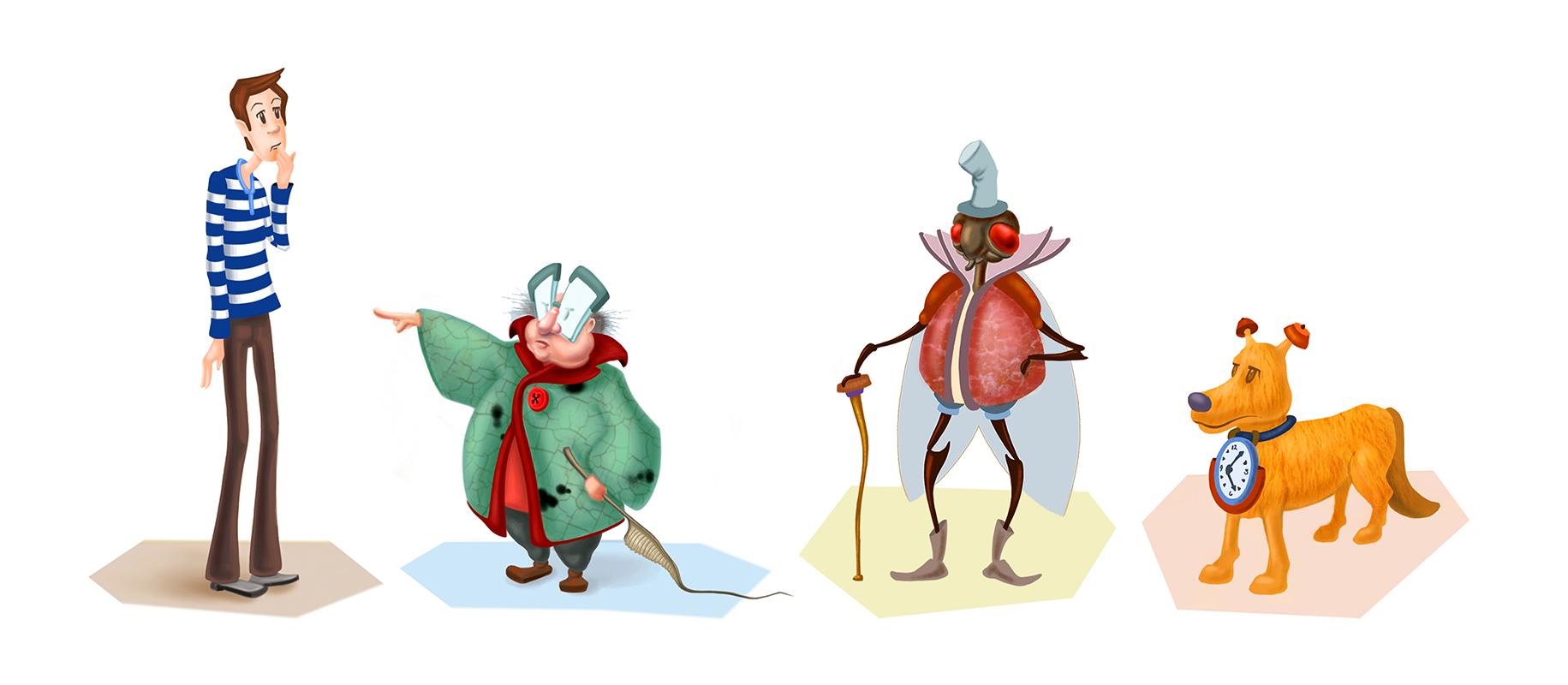 digital character designs