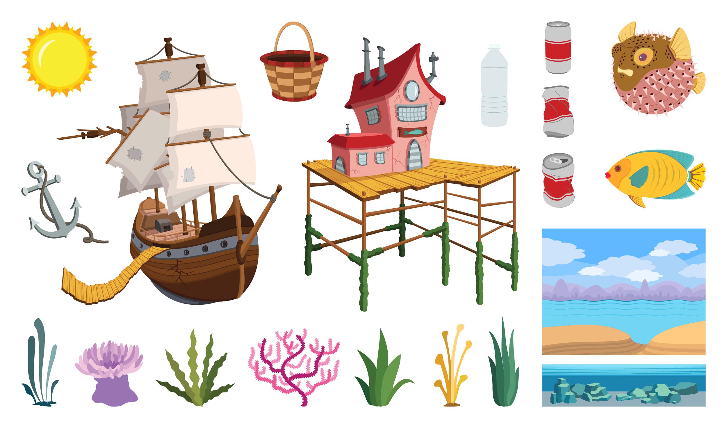 Island Adventure ; UI design for mobile game