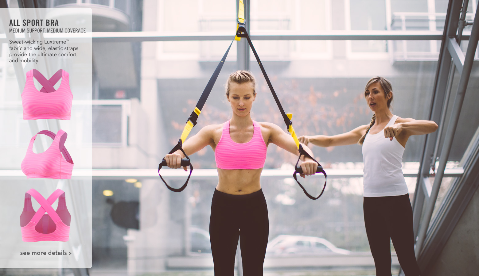 think running, cardio or gym classes – this multipurpose bra has got you covered