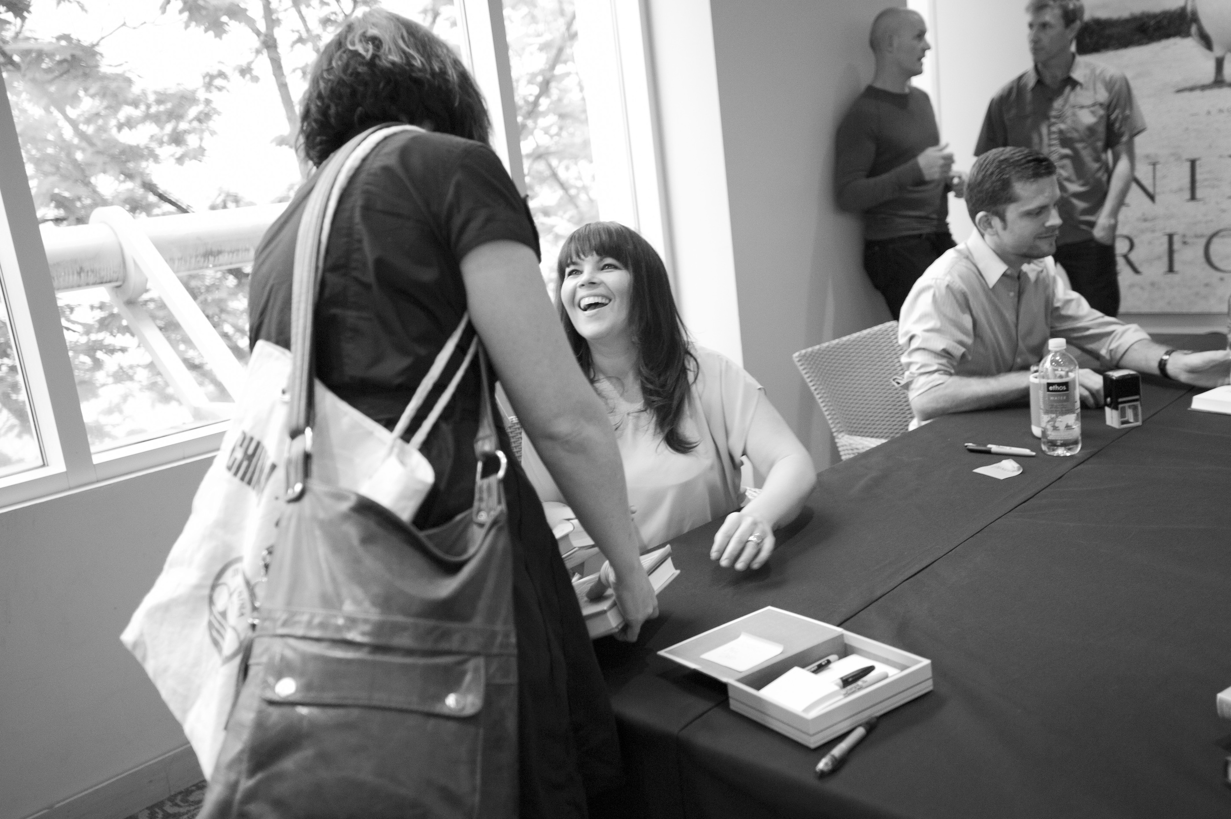 Danielle Laporte's had book signing with  Chris Guillebeau for   The Fire Starter Session and   The $100 Startup, 2012.