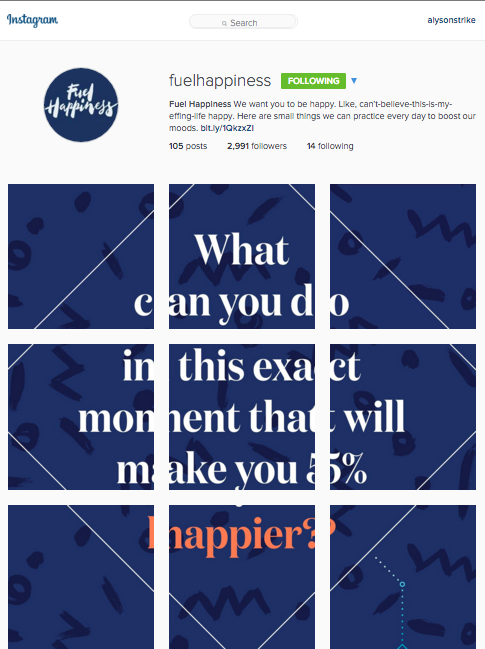 fuelhappiness social media handle