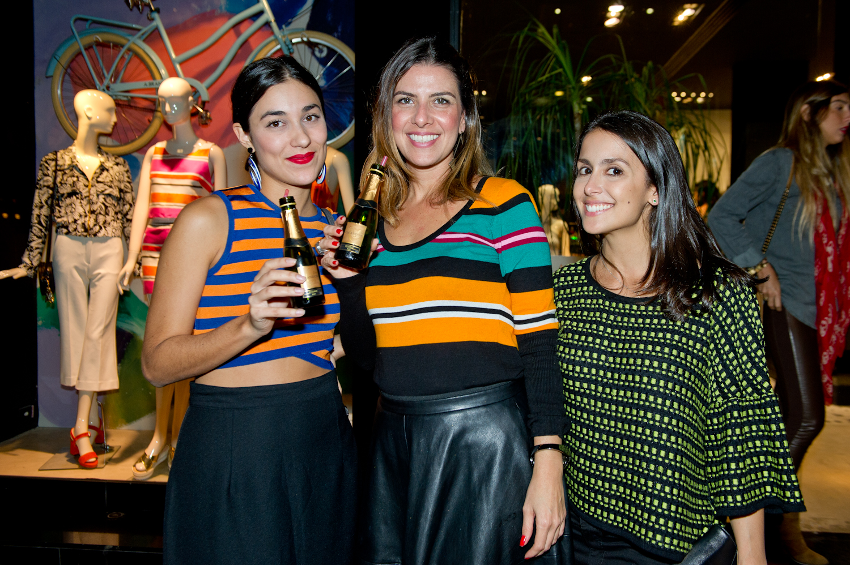 Luiza Calmon, Larissa Tavares e Gabi Ferraz