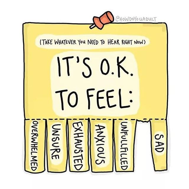 News flash: It's not normal to feel okay 100% of the time. No one does, no one can. Whether you are going through a rough patch, in recovery, or just feeling extra emotional today, that is okay! Emotions and moods are a natural process for us to go through, so sit back and let yourself experience them 😸😹😿😾(but always talk to someone about it and ask for help if it becomes too much). #mentalwellbeing #recovery #psychology