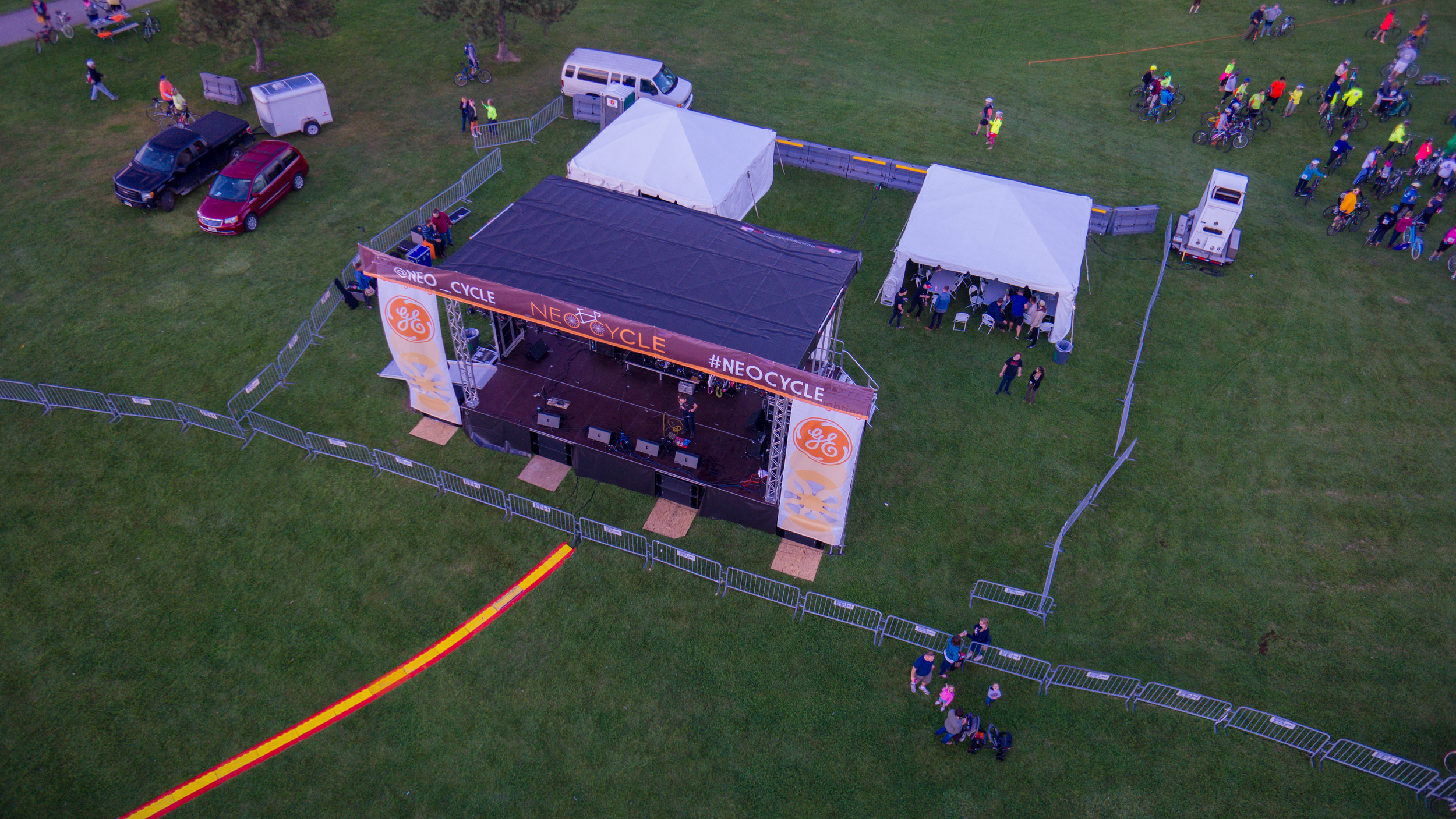 The Main Stage in The Hub at Edgewater Park