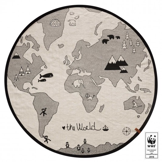 OYOY The World Rug / 135cm 100% Cotton / $149 - from  Leo and Bella