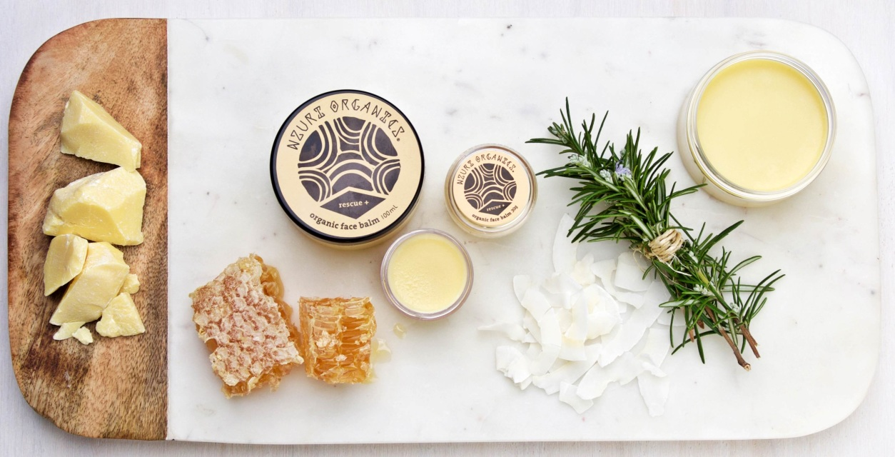Nzuri Organics / Organic Face Balm / $20-$40 / I have this face balm and my skin loves it. I apply it on top of my moisturiser. It's like a big drink of water for your face. The most divine organic shea butter and essential oils.