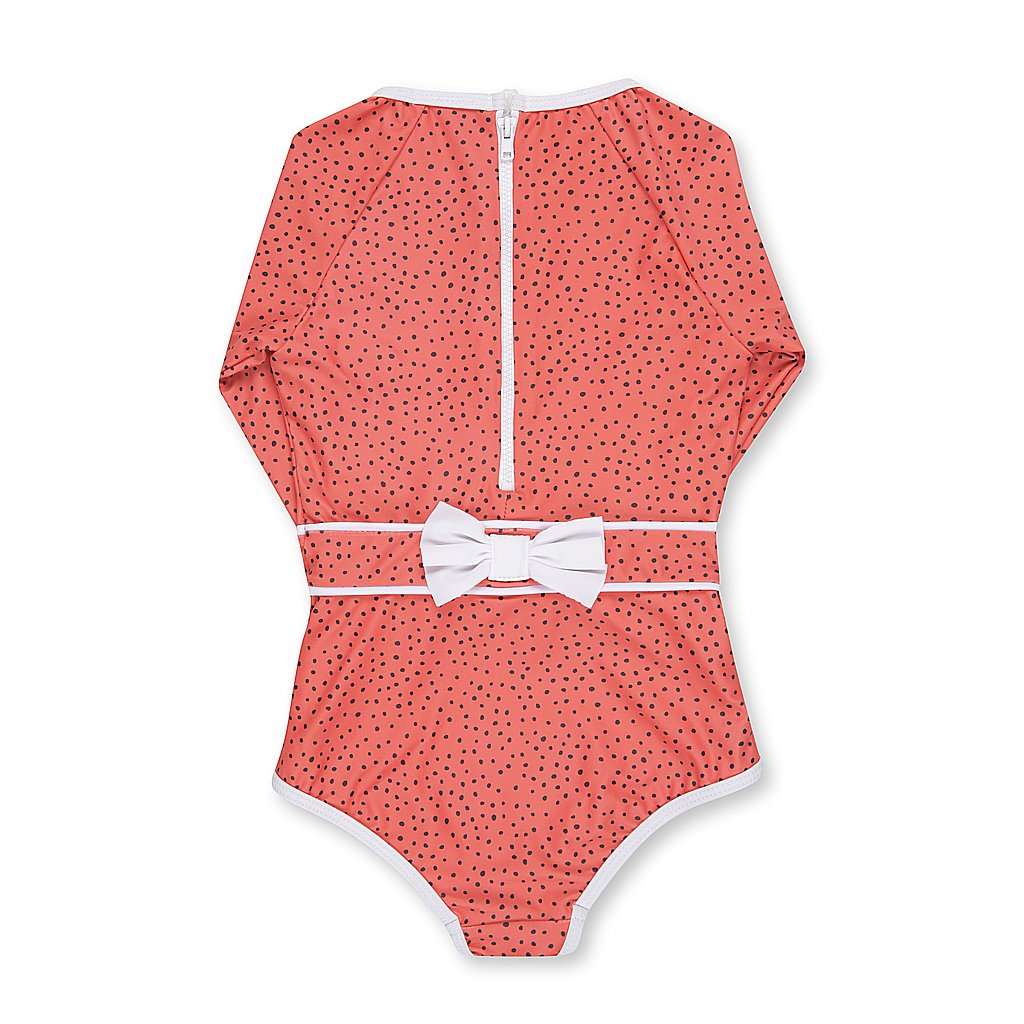 Dot Dot swim - Spotted coral one piece $79.95