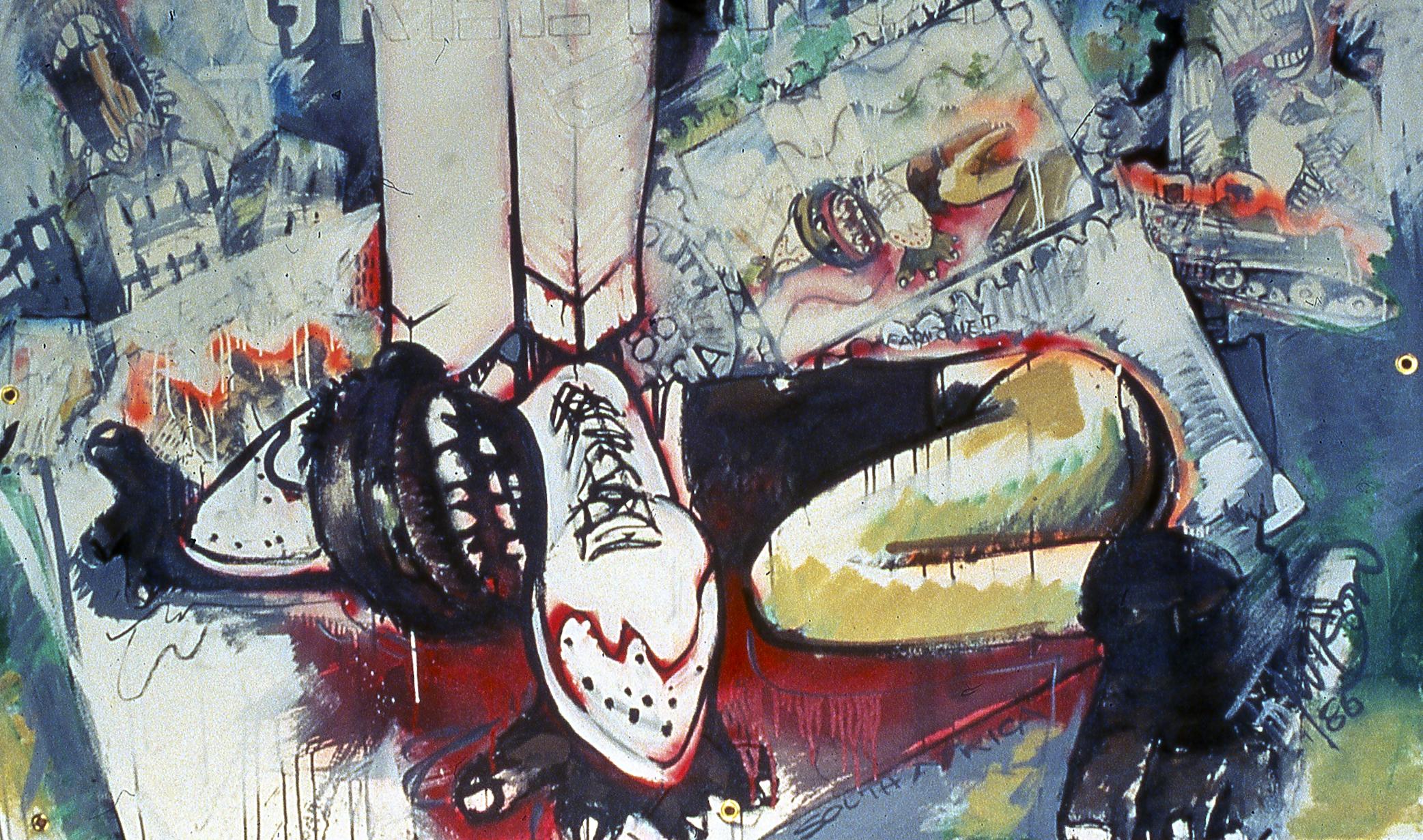 Greetings Acrylic on canvas 48x72 (122x183 cm) 1985