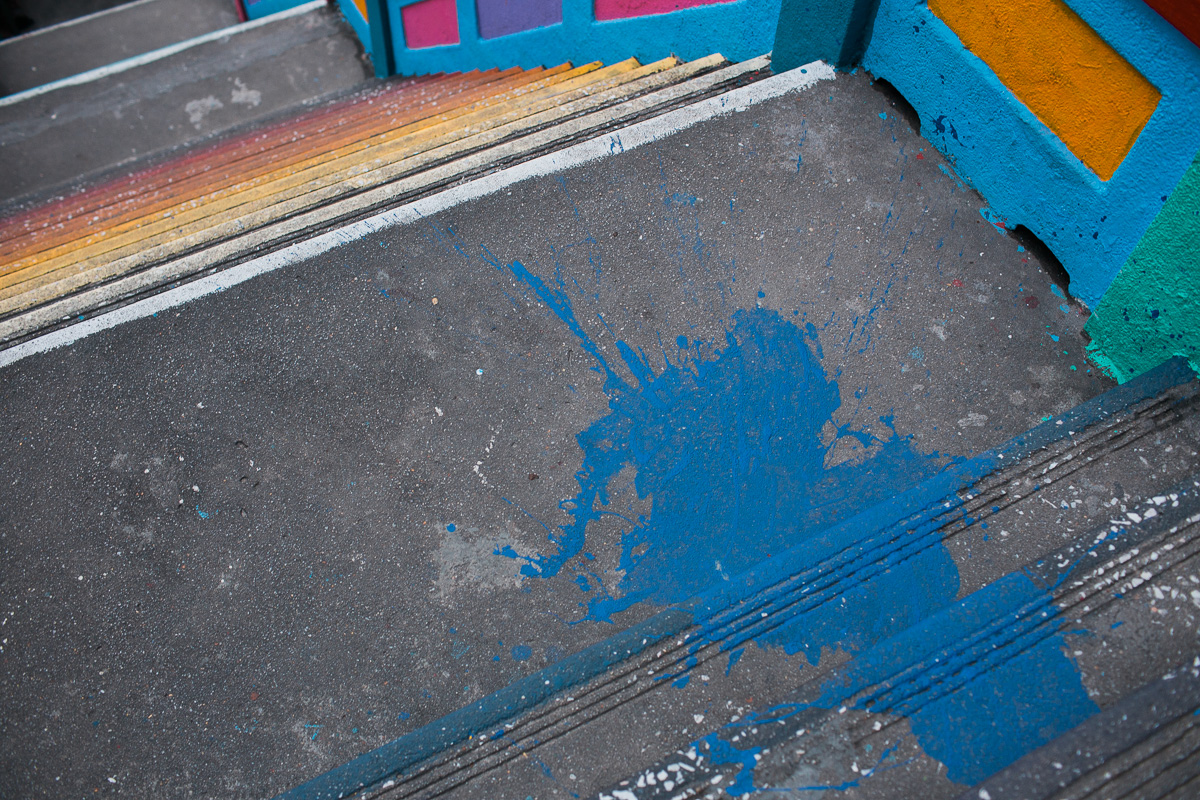 Paint on the Steps at Batu Caves,