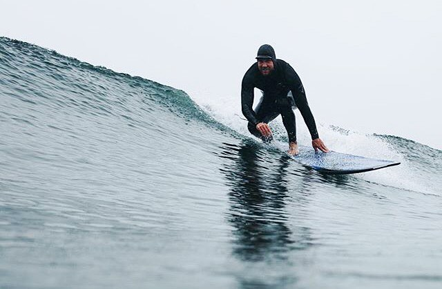 Glassy walls ahead  Photo: @cristinagareau | #bearsurfwax #coldwaterculture #coldwatersurf
