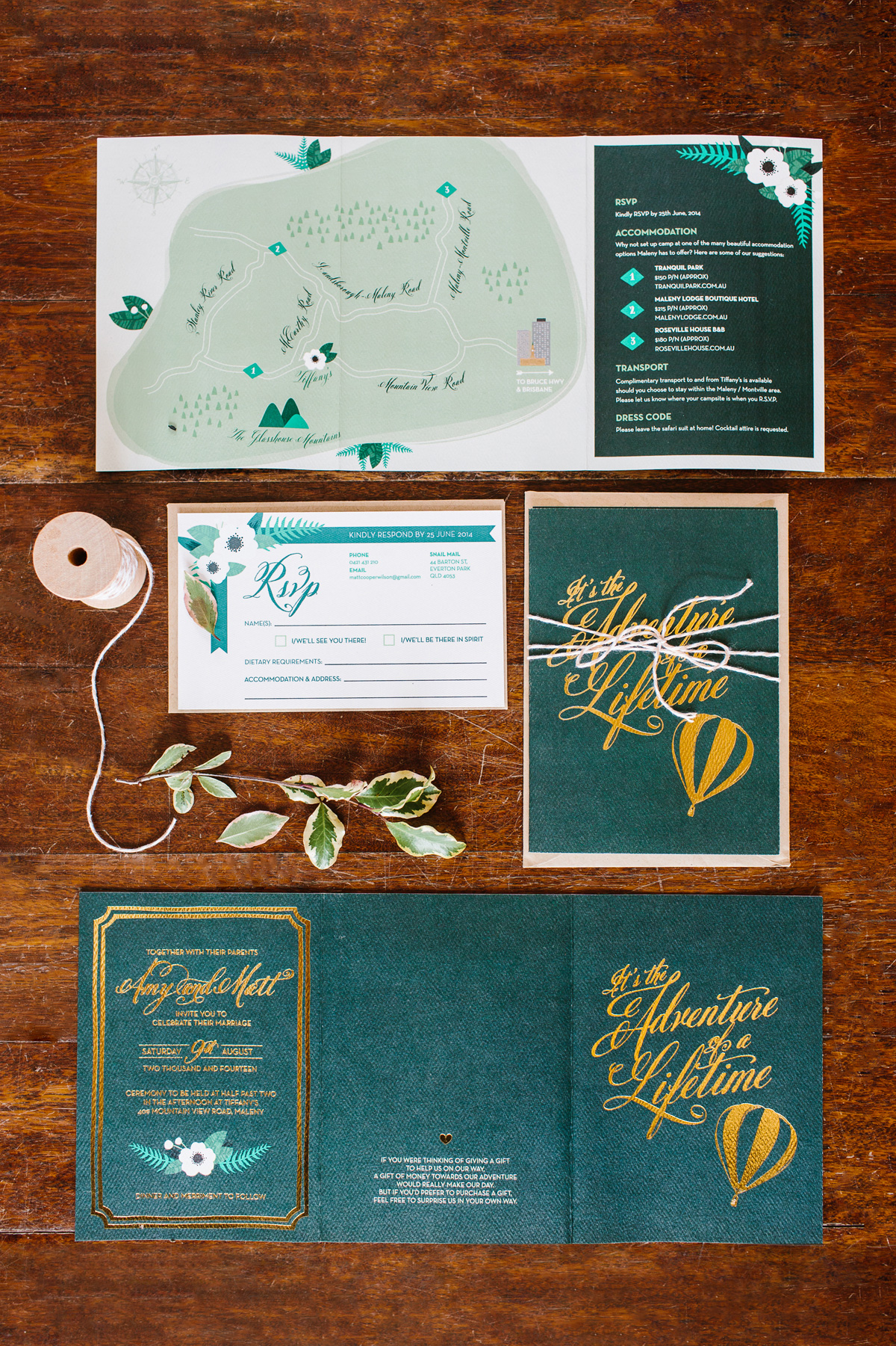 green-and-gold-foil-wedding-invitations