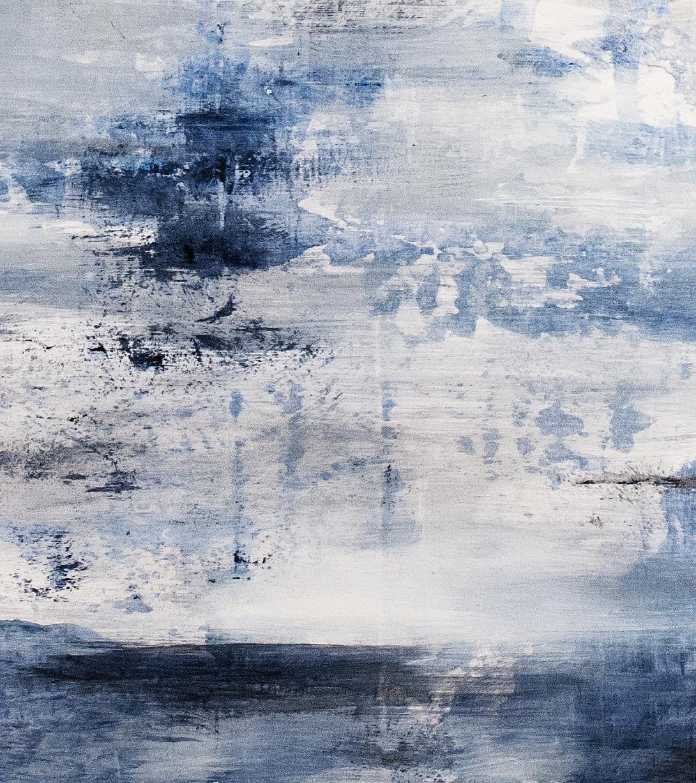 Blue Gray (detail), oil on panel, 2014