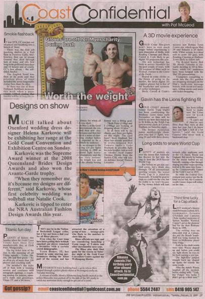Coast Confidential, Gold Coast Bulletin, Thursday 12th February 2009