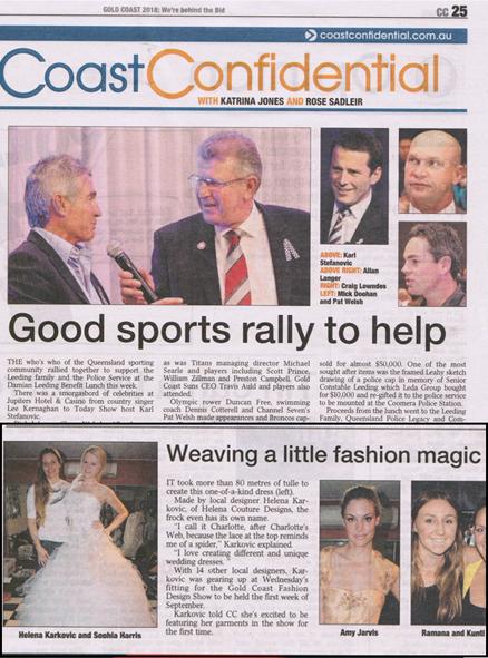Coast Confidential, Gold Coast Bulliten, 19th August 2011