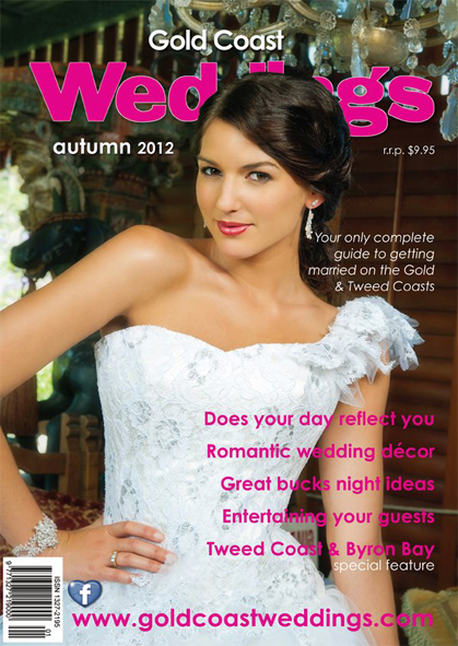 Gold Coast Weddings Cover, Autumn 2012
