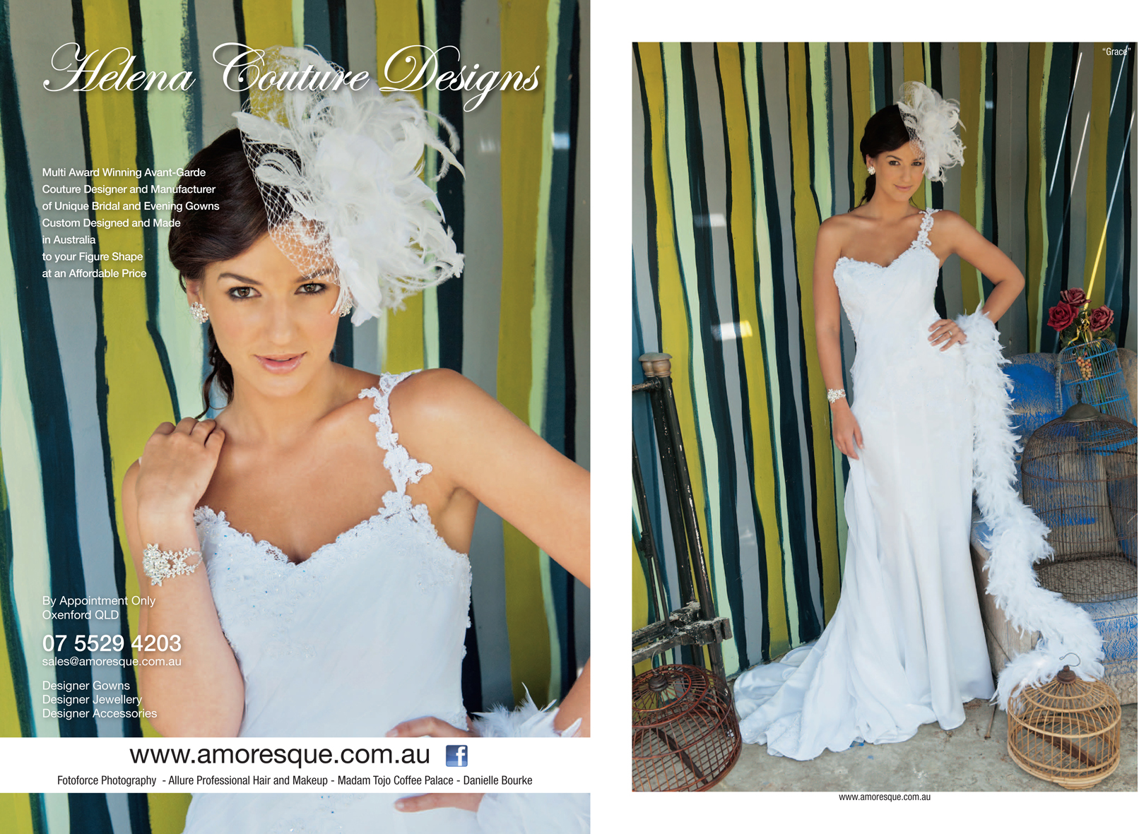 Helena Couture Designs in QLD Brides Magazine Spring 2012.