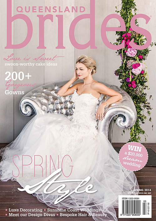 Brides Magazine Spring 2014 Front Cover!