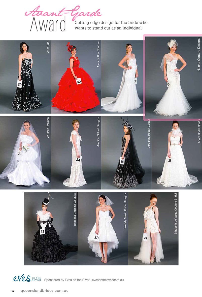 2014 QLD Brides Design Awards - Helena Couture Designs - Auatralian Multi Award Winning Bridal Label