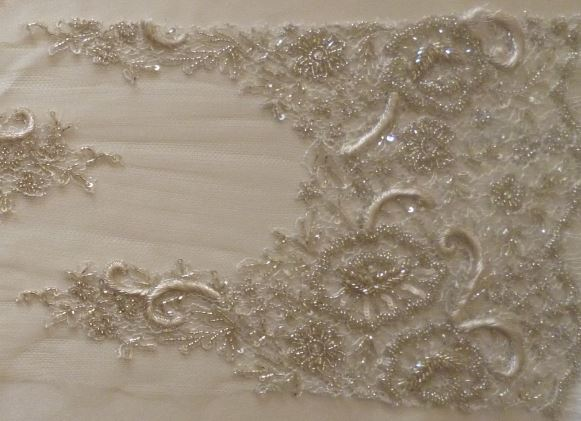 Heavily Beaded French Lace