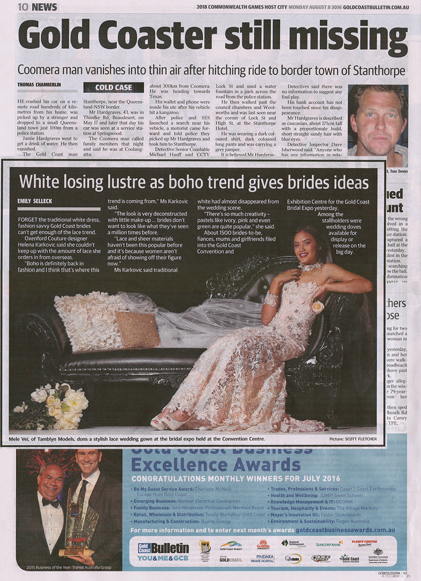 Gold Coast Bulletin August 8th 2016.jpg