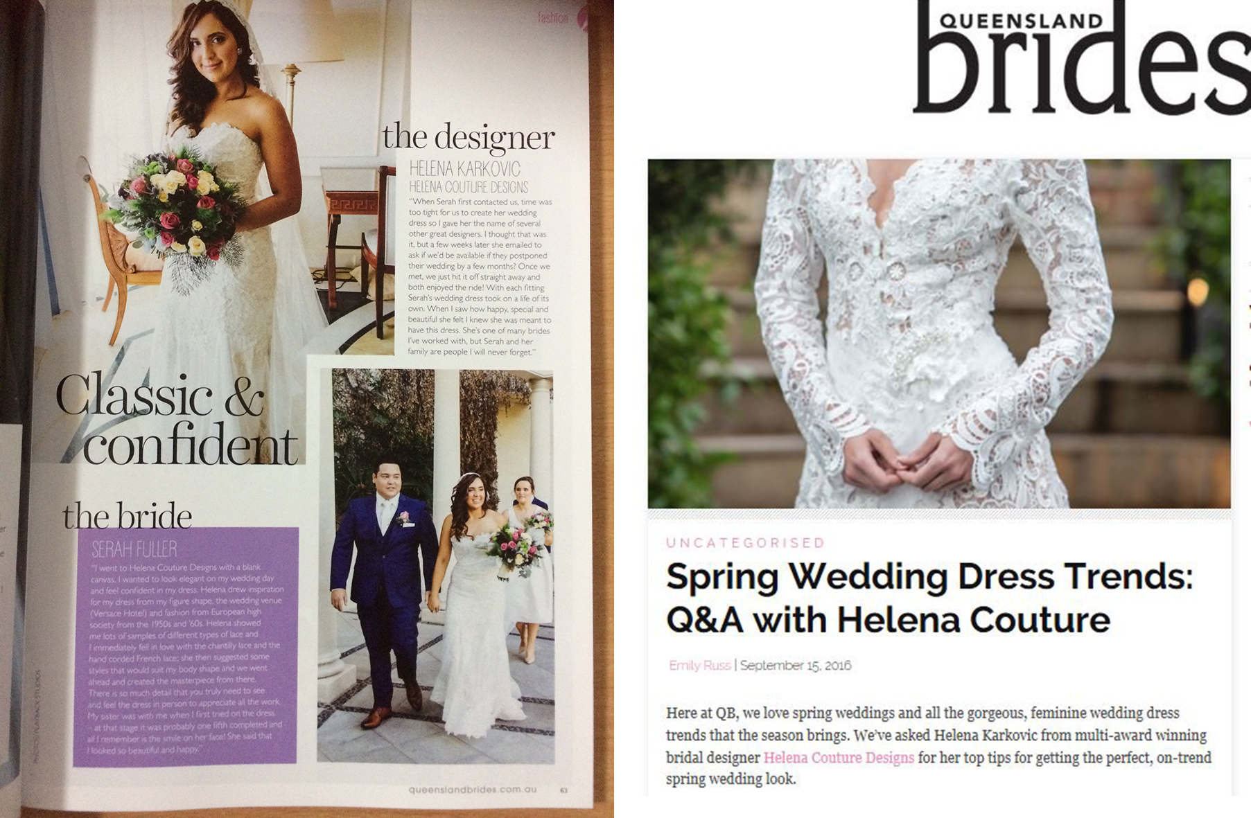 Serah Fuller on her wedding day.                                                                                                                                Find out more about  Spring Wedding Dress Trend