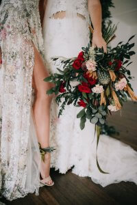 """""""So in love with this absolutely stunning same sex styled shoot – thank you  Helena Couture Designs  for sharing"""" Ideal Bride"""