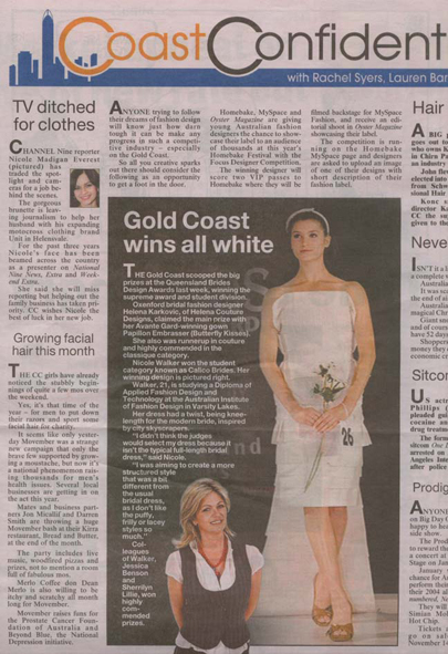 Coast Confidential, Gold Coast Bulletin, Tuesday 4th November 2008