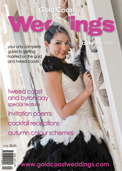 Gold Coast Weddings Cover, Winter 2009