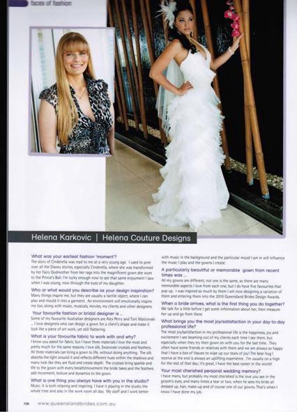 Queensland Brides Magazine Spring 2010
