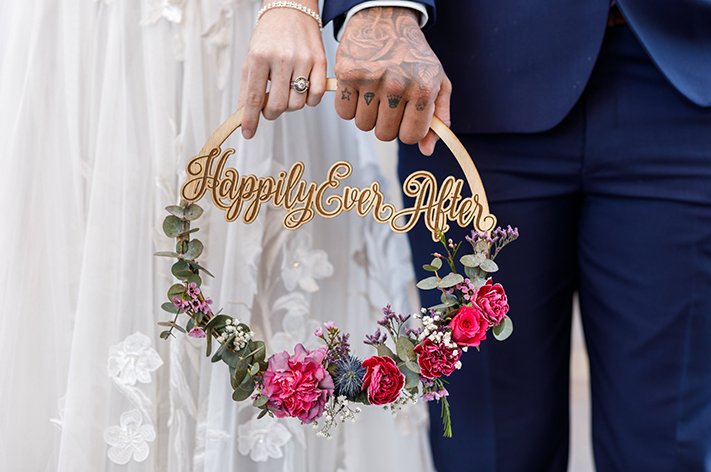Happily ever After?… Only time will tell.   Image:  Andrew Thurtell Wedding s, Dress:  Helena Couture Designs , Florals:  Lola's Wild Flowers , HMUA:  Amanda Higl Hair and Makeup , Models:  Sam Ball  &  Jamie-Lee Andrews