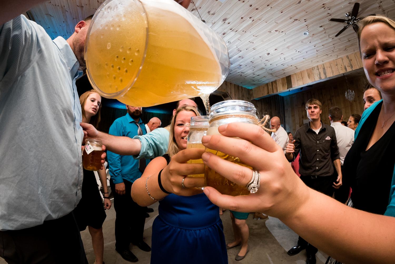 beer on dance floor