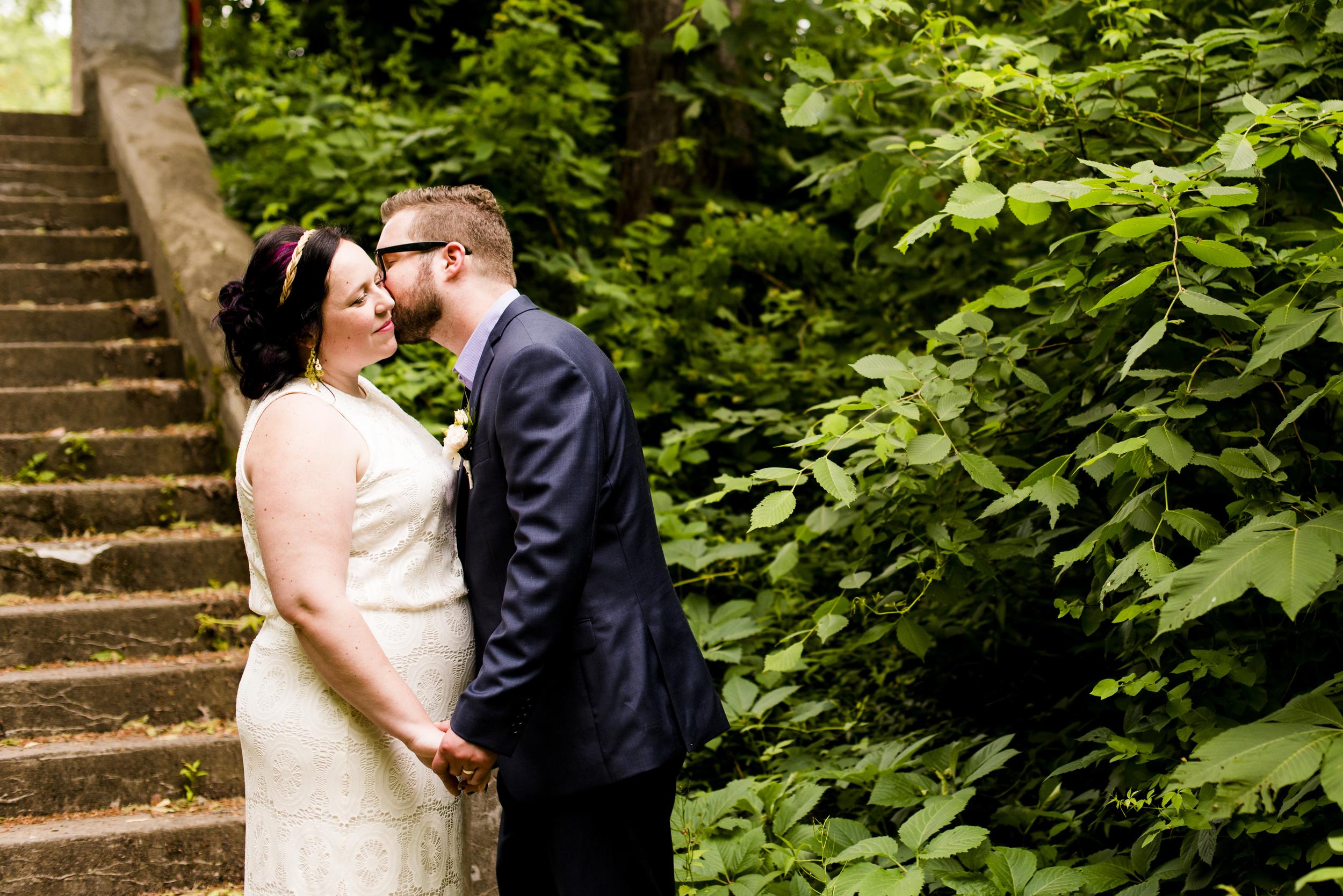 groom kissing