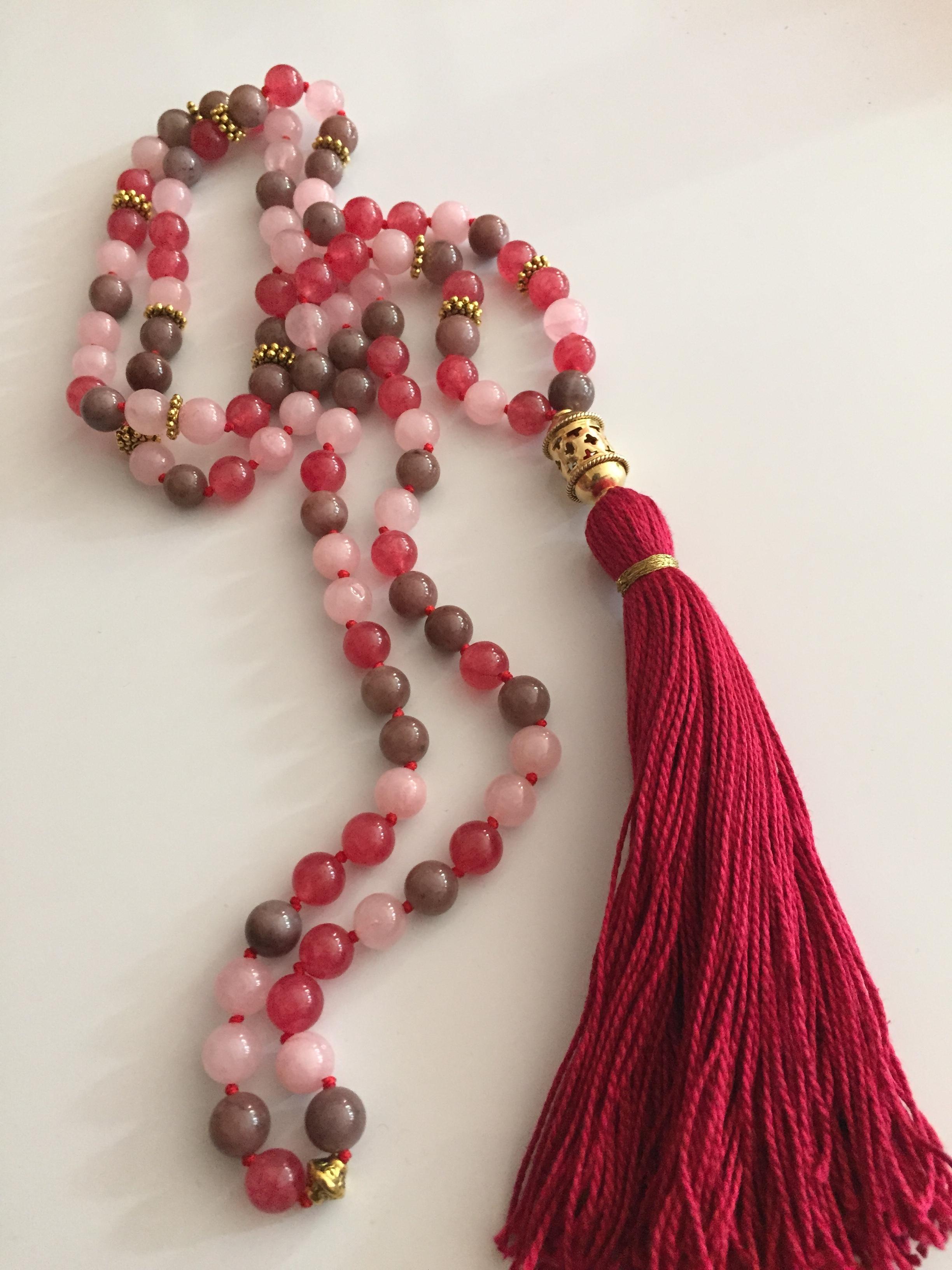 Blush Mala Beads