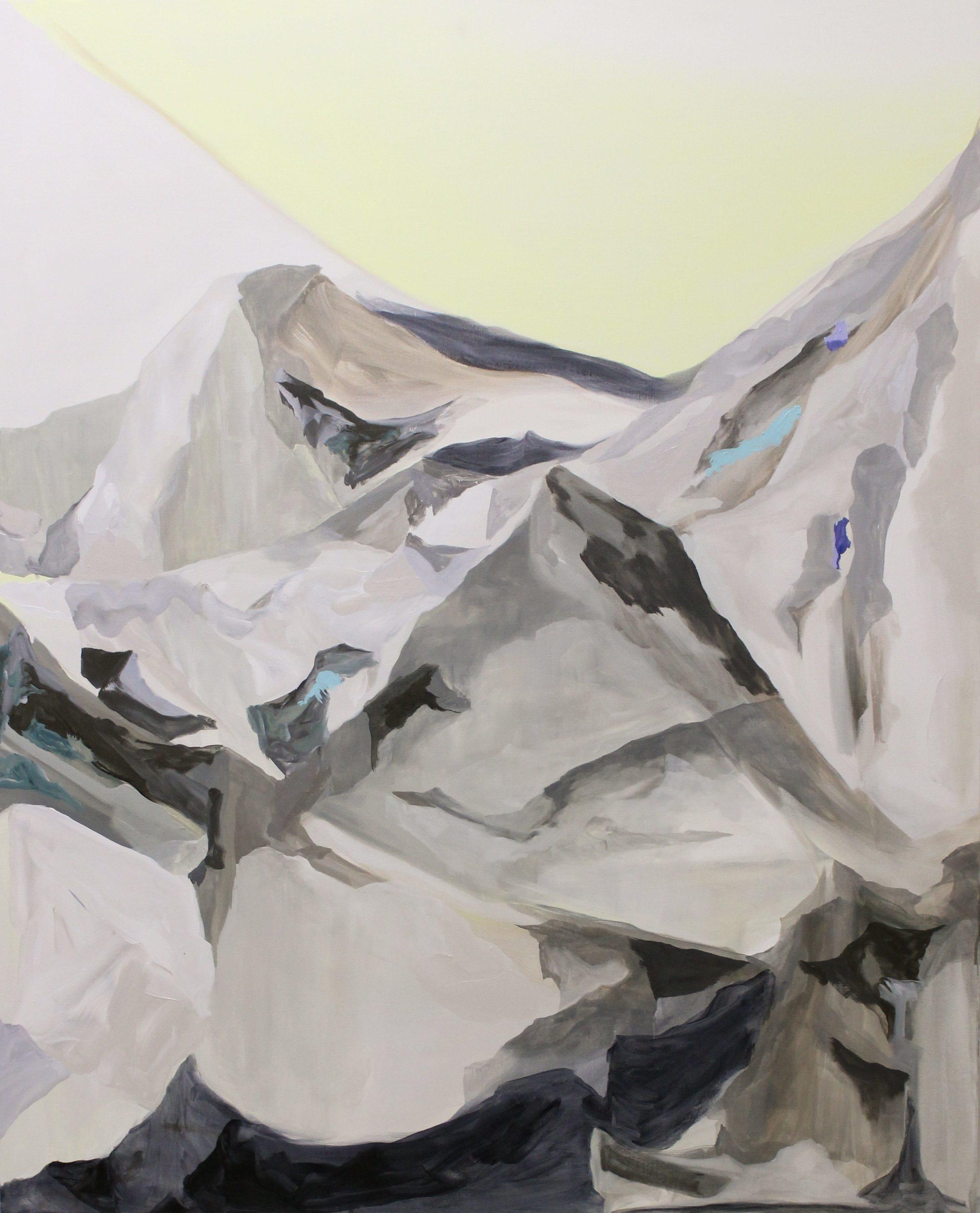 Further Afar, Acrylic and Oil on Canvas,  137 x 112 cm