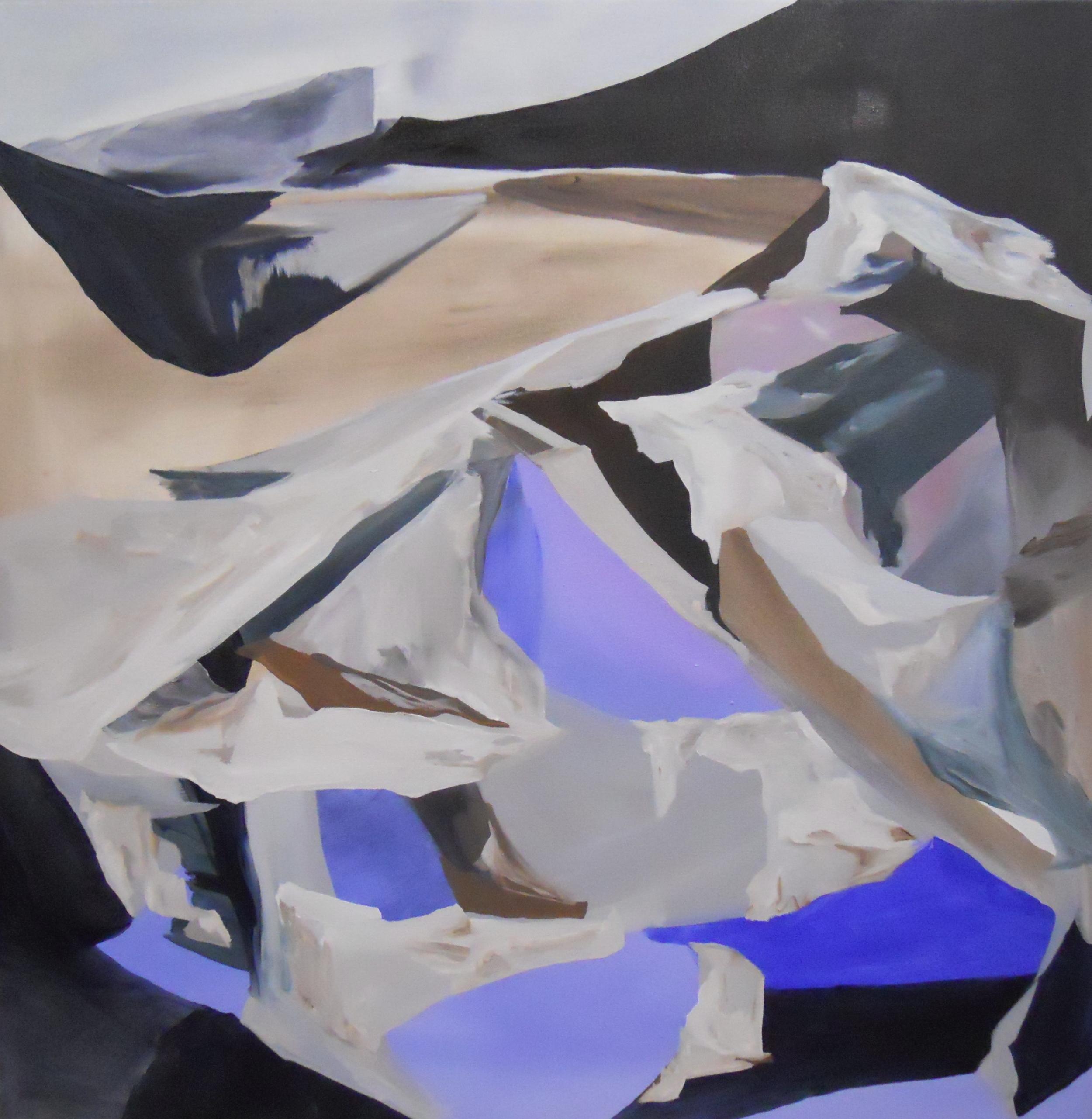Rock Matter, Oil on Canvas,  120 x 112 cm
