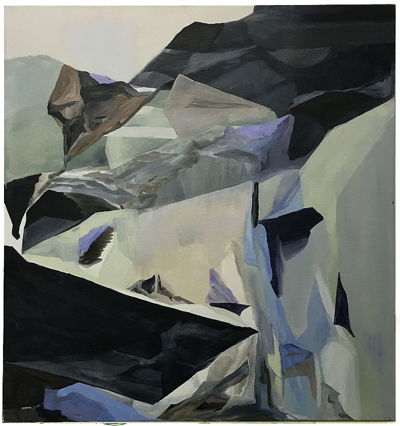 Untitled After Ranges, Oil on Canvas,  76 x 71 cm