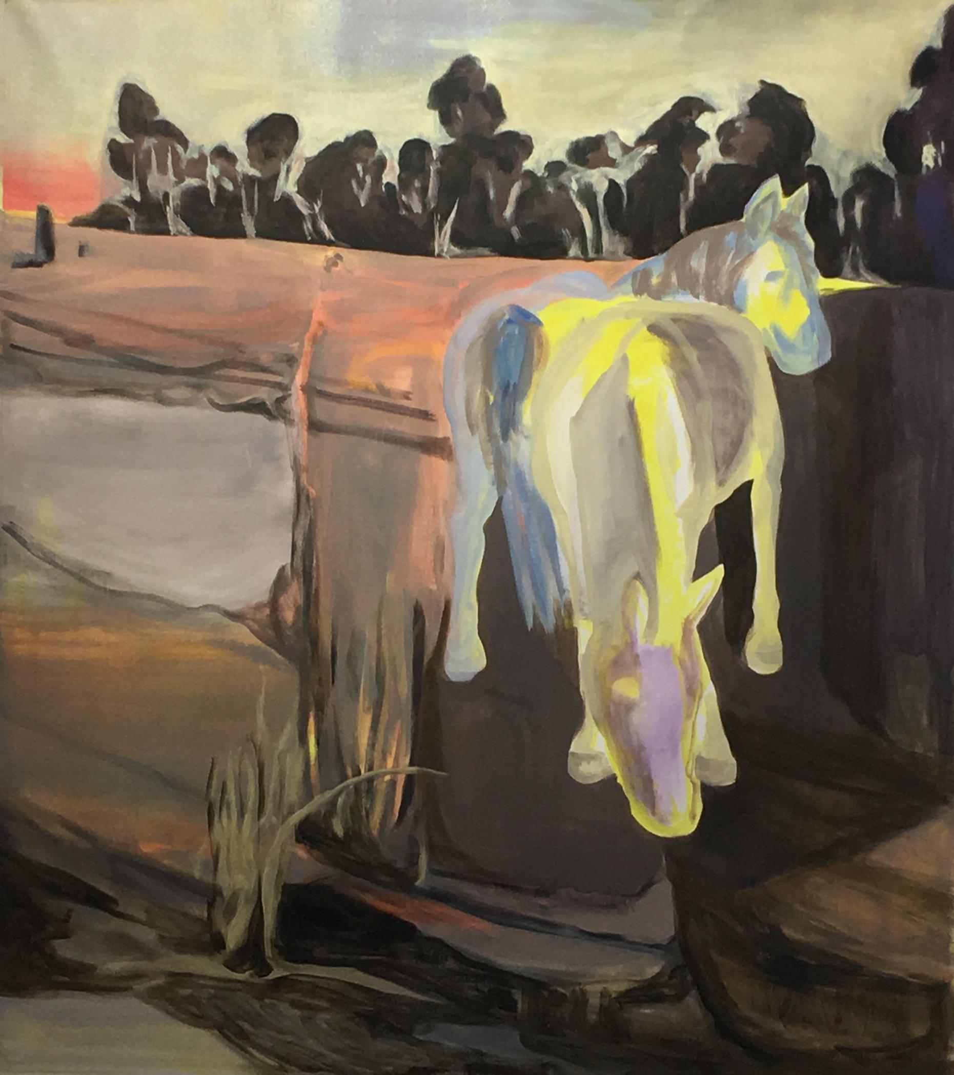 Bush Pony, Oil and Acrylic on Canvas 102 x 138 cm