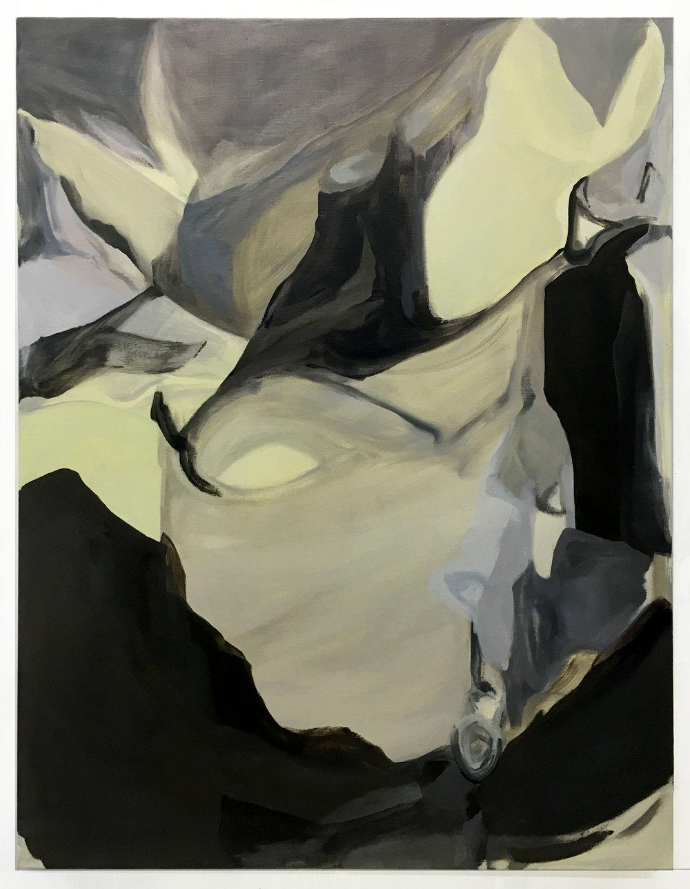 What Happened Here, Oil on Linen, 2017 102 x 76 cm