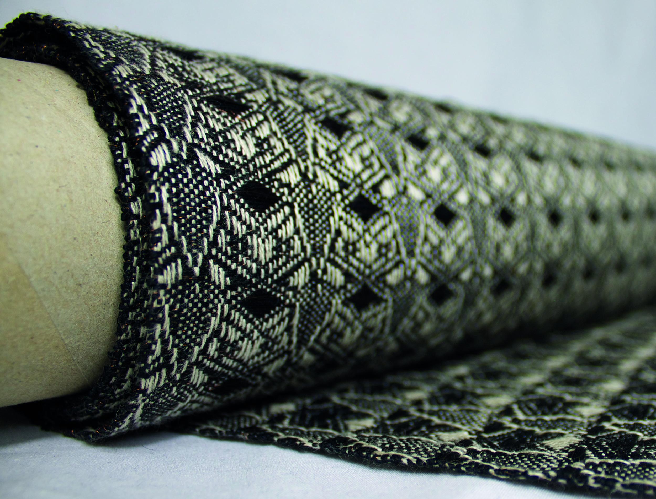 Hand woven linen/cotton gima/copper, Modern Nostalgia, part of my 'The dark world where I dwell' textile collection.