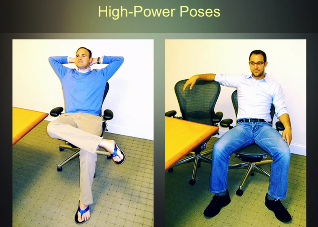 Subjects posing in Amy Cuddy's experiment