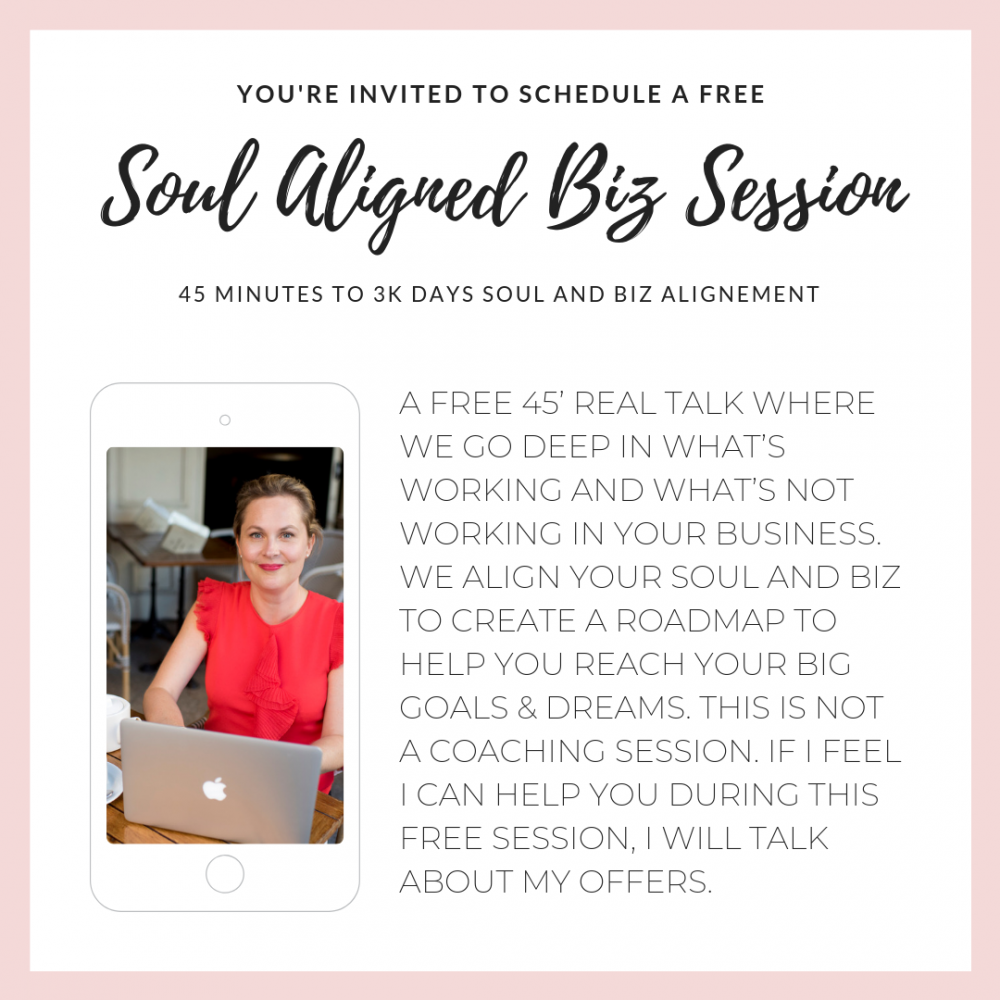 Soul Aligned Biz Session with Virginie Consort